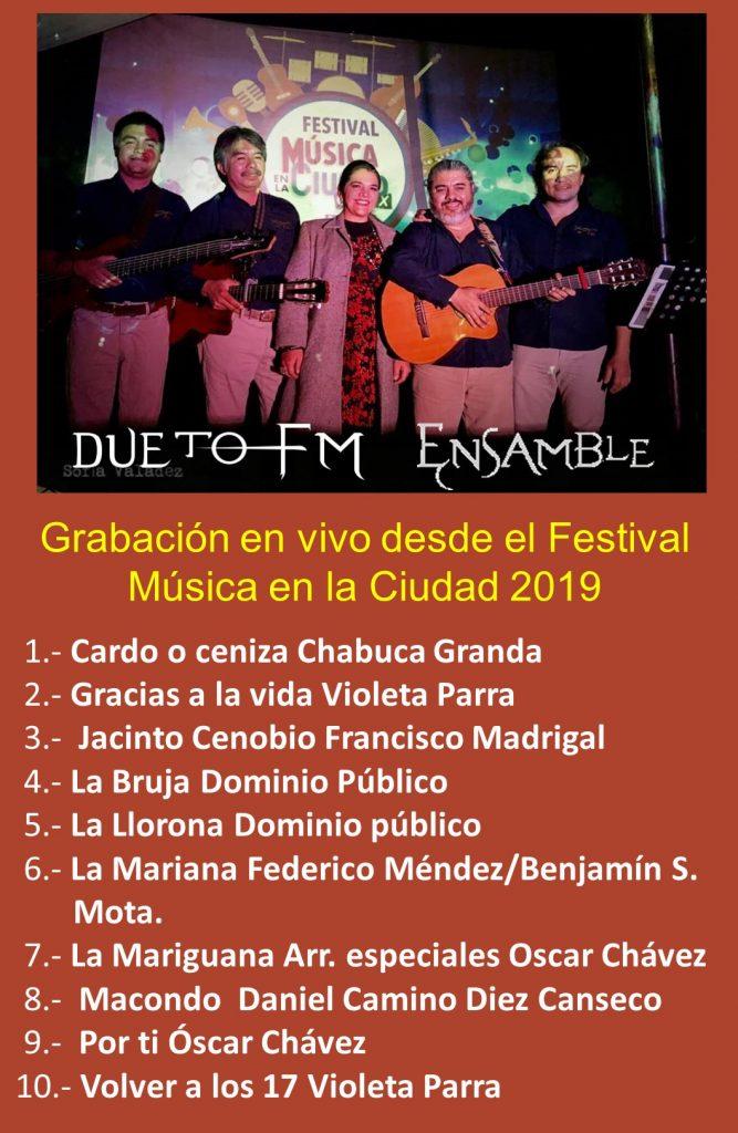 Festival música en la Ciudad en vivo